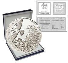 Andorra 5 Dinars, 1/2 oz. Silver Proof Coin, 2011,Pyrenees Flora and Fauna,Eagle