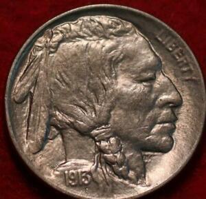 Uncirculated 1913-S Type I San Francisco Mint Buffalo Nickel