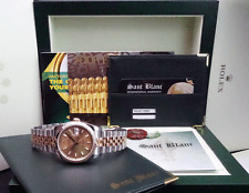 ROLEX - 36mm 18kt GOLD & Stainless DateJust Champagne Index - 116233 SANT BLANC