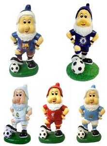 FOOTBALL GARDEN GNOME STATUES BARCELONA CHELSEA LIVERPOOL MANCHESTER CITY GIFT