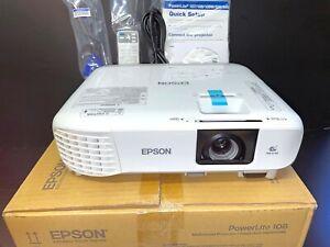 Epson PowerLite 108 Triple LCD Projector 3700 Lumens HDMI 1 Lamp Hr V11H860020