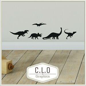 Boys Dinosaur Vinyl Wall Stickers Bedroom Transfer Decor Art Decal Graphic Cheap