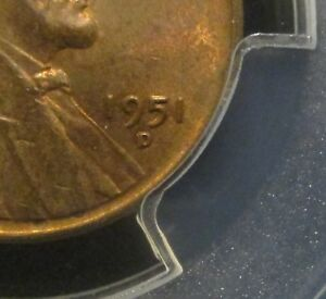 1951-D Lincoln Wheat Cent - Minor Variety - PCGS MS63RB RPM - 6501   ENN COINS
