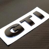 BLACK GTI Badge For VW GOLF POLO PASSAT MK4 MK5 MK6 TDI GT TURBO **NEW**