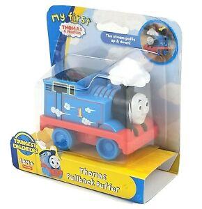 My First Thomas & Friends Pullback Puffer Tank Engine, Pull-N-Go Toy Train 18M+