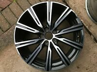 "VOLVO XC60 D4 T5 T6 R-DESIGN 19"" DIAMOND CUT ALLOY WHEEL 31423852 7.5Jx19H2x50.5"
