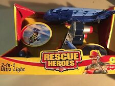 2001 Fisher Price RESCUE HEROES~2-IN-1 ULTRA LIGHT~VEHICLE~NIB
