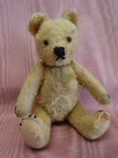 """Antique 8"""" Mohair Jointed Humpback Bear Glass Eyes"""