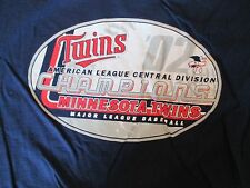 Minnesota Twins 2002 American league Champions MLB Baseball T Shirt Size L