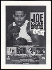 JOE LOUIS - FOR ALL TIME__Original 1985 Trade print AD / screening promo_poster