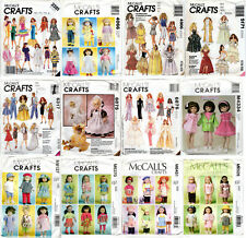 """Choice: McCall'S Fashion Doll Clothes 8"""" 11½"""" 12½"""" 14"""" 18"""" Craft Sewing Patterns"""