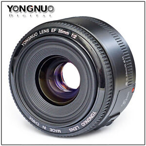YONGNUO EF 35mm f2.0 Wide-Angle Fixed Auto Focus Lens for Canon DSLR Cameras