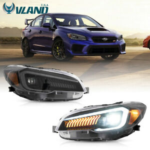 VLAND Pair LED Headlights For Subaru WRX & WRX STI 2015-2017 Projector Headlight