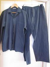 Mens M&S Navy Blue & Green Check Pyjamas Set in Size L / Large - Short Leg