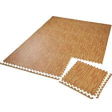 12er Set Schutzmatte Bodenmatte Unterlegmatte Fitness Gymnastik Puzzle Holzoptik
