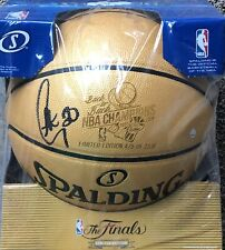 Stephen Curry Signed 2018 NBA Champs 475/2018 Gold Basketball STEINER COA
