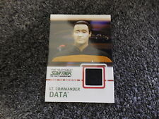 Quotable Star Trek The Next Generation TNG Costume Relic C2 Lt. Commander Data