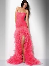 Jovani Coral Strapless Tule Sweetheart Prom Dress Sz 6 NWT