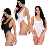 Women Sheer Thong Leotard Lingerie One Piece Backless Bodysuit Monokini Swimsuit