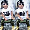 2pcs Newborn Toddler Kids Baby Boys Clothes Outfits T-shirt Tops+ Long Pants Set
