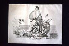 Incisione d'allegoria e satira Venezia contro Austria Don Pirlone 1851