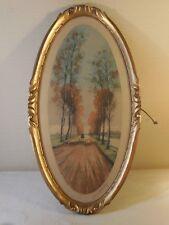 65 X 35 cm - début XXème, Ancienne gravure, berger, en cadre bois doré