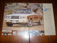 1984 Chrysler Town & Country - Original 2008 Article
