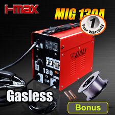 NEW 130 Amp Gasless MIG/MAG Portable Welder Welding Machine Metal Steel 10A Plug