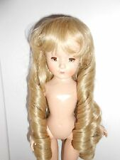 {#3A} Long cascading curls blonde doll wig size 8-9