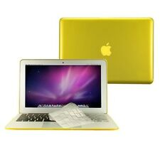 "2 in 1 Crystal YELLOW Case for Macbook AIR 11"" A1370 with TPU Keyboard Cover"