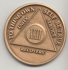 22 Years - XXII Years - Alcoholics Anonymous recovery medal token chip coin