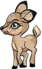 DEER, BABY - IRON ON EMBROIDERED PATCH - FOREST & ZOO ANIMALS - FAWN