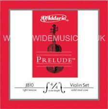 D'addario J810 Prelude Violin String Set, 4/4 Scale, Luz tensión