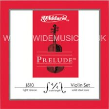 5D'ADDARIO J810 Prelude Violin String Set, 4/4 Scale, Light Tension