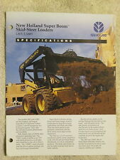 1994 NEW HOLLAND L865 & LX885 SKID STEER LOADERS SPECIFICATIONS BROCHURE