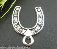 30 Hufeisen Charms Anhänger Glücksbringer Amulette für Kette Perlen Beads