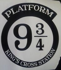 Harry Potter Inspired Vinyl Wall Sticker - Platform 9 3/4 KINGS CROSS STATION
