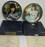 2 Reco Sandra Kuck 24kt The Premier Collection Kitten and La Belle wCOA /& Box