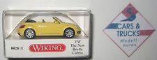 Wiking 002801 VW The New Beetle Cabrio gelb mit geöffnetem Dach 1:87