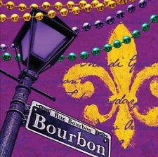 Rue Bourbon Luncheon Napkins Mardi Gras Paper Plates and Napkins