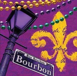 Rue Bourbon Luncheon Napkins Paper 18 Pack Mardi Gras Tableware Party Supplies