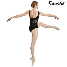 Ballettbekleidung - Damen Trikot Carelle  von Sansha schwarz Gr. 3 = 36