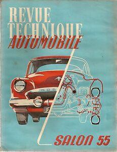 REVUE TECHNIQUE AUTOMOBILE 114 RTA 1955 SALON DE L'AUTOMOBILE 1955 MODELES 1956