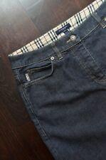Burberry London Women's Dark Blue Nova Check Denim Skirt Size UK8 Made in Italy