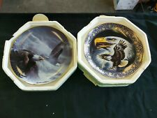 Franklin mint eagle plates power and majesty profile of freedom
