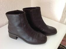 Ladies Stylish Brown Ankle Boots Size UK 3
