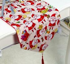 Table Runners Tablecloth Snowman Wedding Christmas Santa Claus Party Decoration