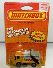 Matchbox Superfast No 45 Ford Cargo Skip Truck Yellow & Grey MIB