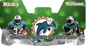 Custom Miami Dolphins Ricky Williams Football Helmet Visor, W/ Unbranded Clips