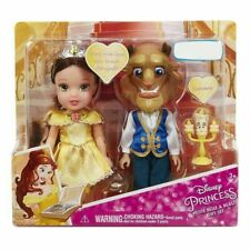 Disney Princess Petite Belle & Beast 6 Inch Figure Doll Gift Set Playset  - NEW